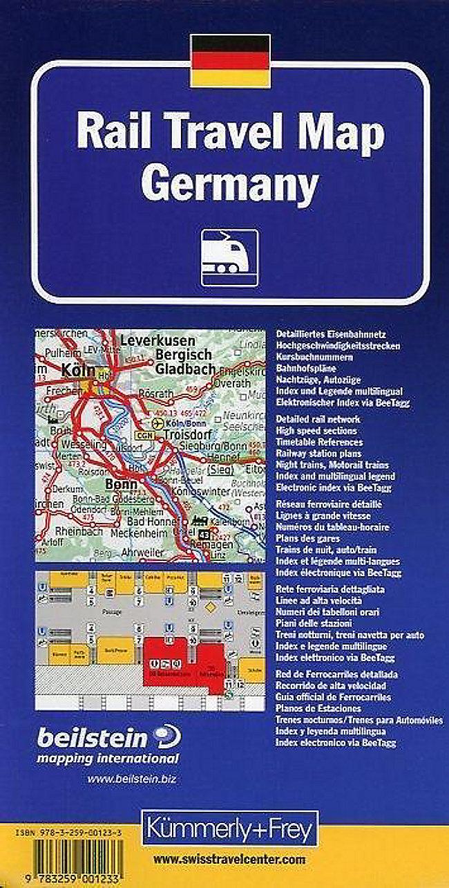 Kümmerly & Frey Karte Rail Travel Map Deutschland Rail Travel Map ...