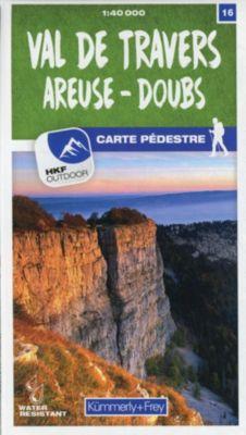 Kümmerly+Frey Karte Val-de-Travers / Areuse - Doubs Wanderkarte -  pdf epub