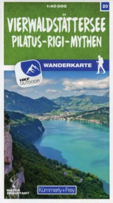 Kümmerly+Frey Karte Vierwaldstättersee / Pilatus - Rigi - Mythen Wanderkarte