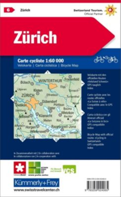 Kümmerly+Frey Karte Zürich, Velokarte
