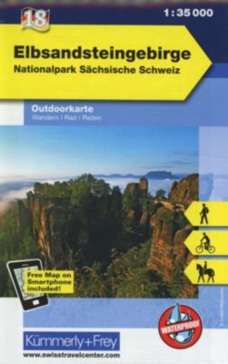 Kümmerly & Frey Outdoorkarte Elbsandsteingebirge