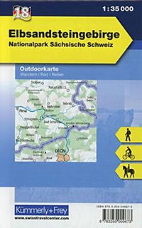 Kümmerly & Frey Outdoorkarte Elbsandsteingebirge - Produktdetailbild 1