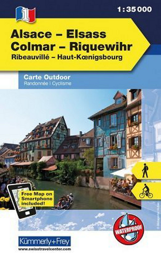 Elsass Karte Colmar.Kümmerly Frey Outdoorkarte Elsass Vogesen Alsace Elsass Colmar