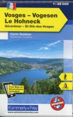 Kümmerly+Frey Outdoorkarte Elsass, Vogesen - Vosges/Vogesen - Le Hohneck