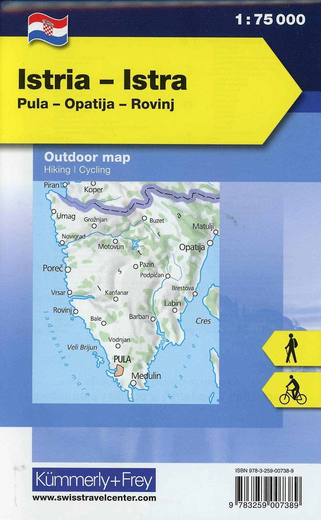 Kroatien Karte Istrien.Kümmerly Frey Outdoorkarte Kroatien Istrien Buch Versandkostenfrei