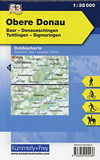 Kümmerly & Frey Outdoorkarte Obere Donau, Baar, Donaueschingen, Tuttlingen, Sigmaringen - Produktdetailbild 1