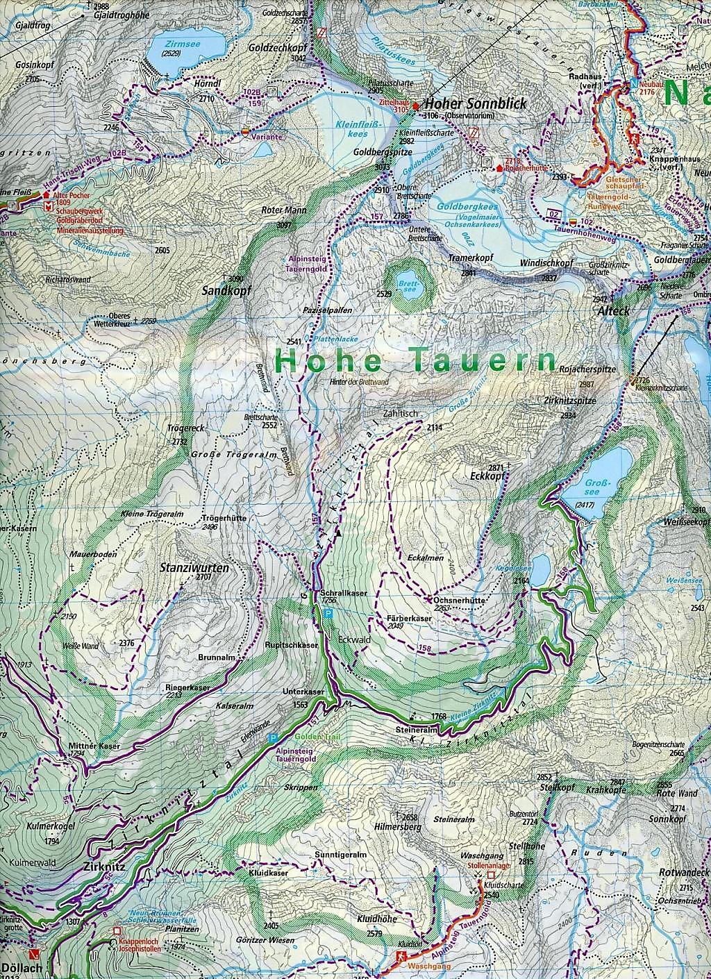 Großglockner Karte.Kümmerly Frey Outdoorkarte österreich Großglockner Buch
