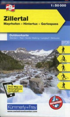 Kümmerly+Frey Outdoorkarte Österreich - Zillertal