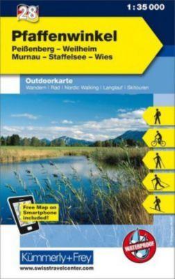 Kümmerly+Frey Outdoorkarte Pfaffenwinkel, Peissenberg, Weilheim, Murnau, Staffelsee, Wies