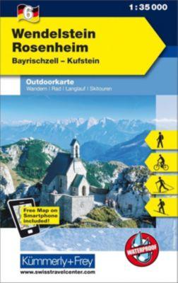 Kümmerly+Frey Outdoorkarte Wendelstein - Rosenheim, Bayrischzell, Kufstein