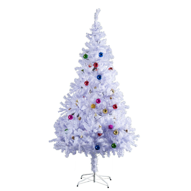 Weißer Tannenbaum Künstlich.Künstlicher Weihnachtsbaum Inkl Metallständer Und Deko Weltbild De