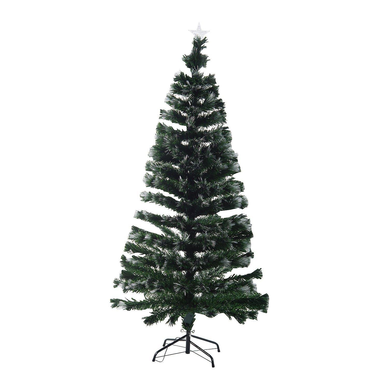 k nstlicher weihnachtsbaum mit leuchtfaser. Black Bedroom Furniture Sets. Home Design Ideas
