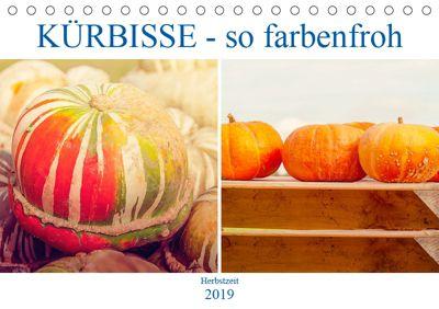 Kürbisse - so farbenfroh (Tischkalender 2019 DIN A5 quer), Liselotte Brunner-Klaus