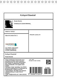 Kultsport Baseball (Tischkalender 2019 DIN A5 hoch) - Produktdetailbild 13