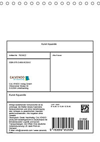 Kunst Aquarelle (Tischkalender 2019 DIN A5 hoch) - Produktdetailbild 13