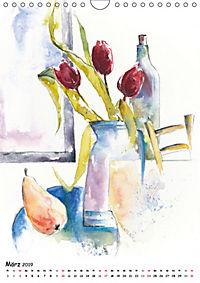 Kunst Aquarelle (Wandkalender 2019 DIN A4 hoch) - Produktdetailbild 3