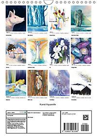Kunst Aquarelle (Wandkalender 2019 DIN A4 hoch) - Produktdetailbild 13