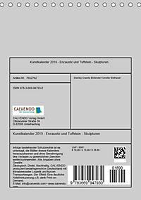 Kunstkalender 2019 - Encaustic und Tuffstein - Skulpturen (Tischkalender 2019 DIN A5 hoch) - Produktdetailbild 13