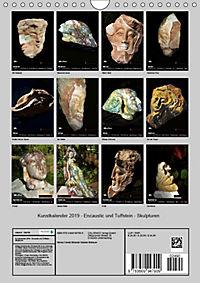 Kunstkalender 2019 - Encaustic und Tuffstein - Skulpturen (Wandkalender 2019 DIN A4 hoch) - Produktdetailbild 13