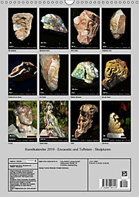 Kunstkalender 2019 - Encaustic und Tuffstein - Skulpturen (Wandkalender 2019 DIN A3 hoch) - Produktdetailbild 13