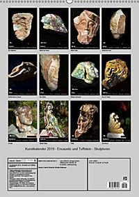 Kunstkalender 2019 - Encaustic und Tuffstein - Skulpturen (Wandkalender 2019 DIN A2 hoch) - Produktdetailbild 13