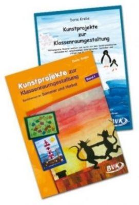 Kunstprojekte zur Klassenraumgestaltung: Sachthemen im Sommer und Herbst / Winter und Frühling, 2 Tle., Doris Krebs