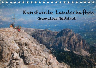Kunstvolle Landschaften - Gemaltes Südtirol (Tischkalender 2019 DIN A5 quer), Georg Niederkofler