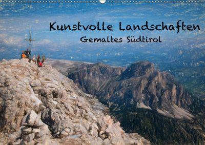 Kunstvolle Landschaften - Gemaltes Südtirol (Wandkalender 2019 DIN A2 quer), Georg Niederkofler