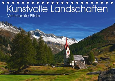 Kunstvolle Landschaften - Verträumte Bilder (Tischkalender 2019 DIN A5 quer), Georg Niederkofler