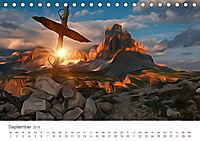 Kunstvolle Landschaften - Verträumte Bilder (Tischkalender 2019 DIN A5 quer) - Produktdetailbild 9