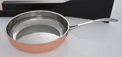 Kupfer-Bratpfanne 28cm 3-fach-Laminat
