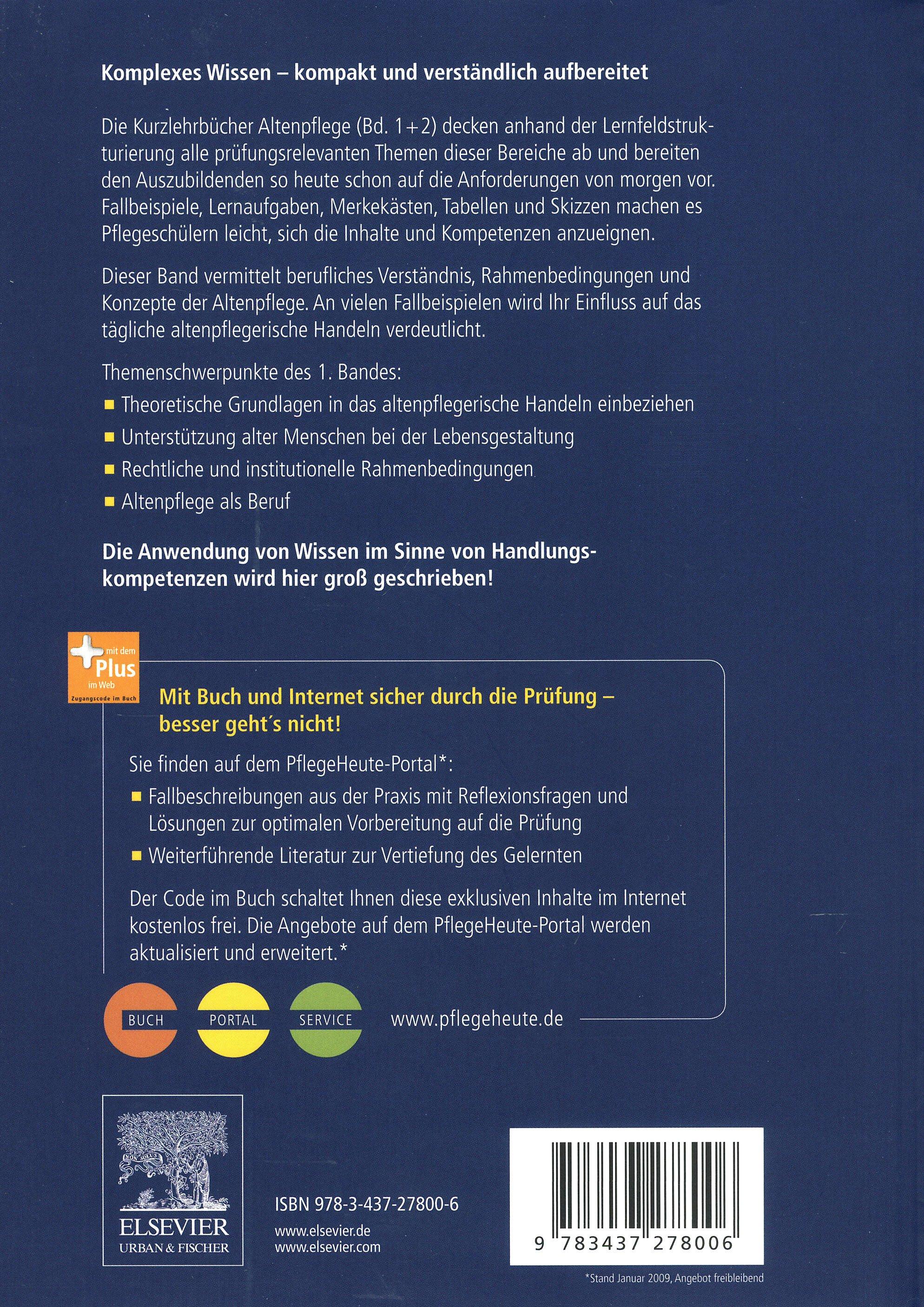Kurzlehrbuch Altenpflege 2 Bände Buch Portofrei Bei Weltbildde