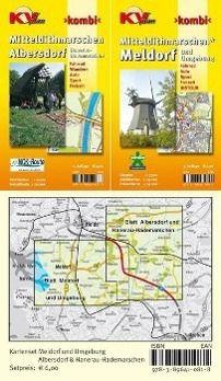 KVplan Kombi Mitteldithmarschen - Albersdorf & Hanerau-Hademarschen; Mitteldithmarschen - Meldorf und Umgebung, 2 Bl.