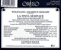 La Finta Semplice-Opera Buffa In Tre Atti (GA) It. - Produktdetailbild 1