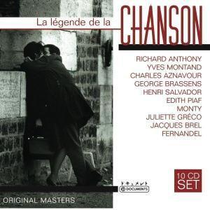 La légende de la chanson, 10 CDs, Various, Becaud, Montand, Piaf, Aznavour, Brel