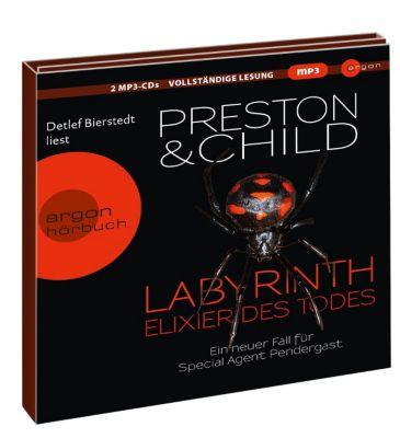 Labyrinth - Elixier des Todes, 2 MP3-CDs, Douglas Preston, Lincoln Child