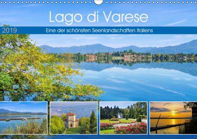 Lago di Varese - Eine der schönsten Seenlandschaften Italiens (Wandkalender 2019 DIN A3 quer), LianeM