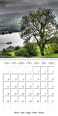 LAKE DISTRICT CUMBRIA Dramatic Art Photos (Wall Calendar 2019 300 × 300 mm Square) - Produktdetailbild 3