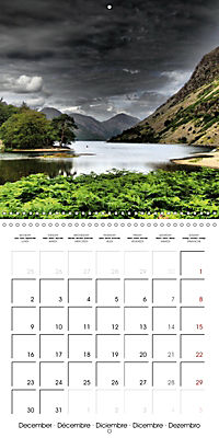 LAKE DISTRICT CUMBRIA Dramatic Art Photos (Wall Calendar 2019 300 × 300 mm Square) - Produktdetailbild 12