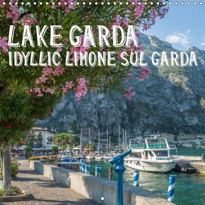 LAKE GARDA Idyllic Limone sul Garda (Wall Calendar 2019 300 × 300 mm Square), Melanie Viola