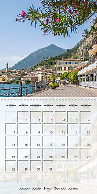 LAKE GARDA Idyllic Limone sul Garda (Wall Calendar 2019 300 × 300 mm Square) - Produktdetailbild 1