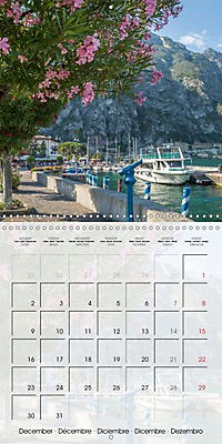 LAKE GARDA Idyllic Limone sul Garda (Wall Calendar 2019 300 × 300 mm Square) - Produktdetailbild 12