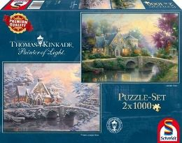 Lamplight Manour / Winter in Lamplight Manour (Puzzle), Thomas Kinkade