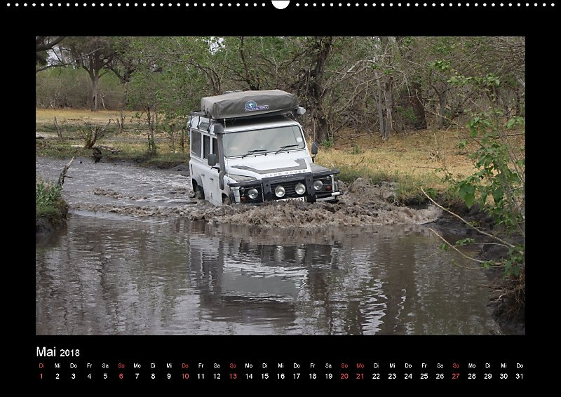 Land Rover Defender Unterwegs In Afrika Wandkalender 2018 Din A2