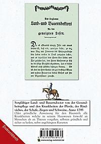 Land- und Bauerndoctor von der Gesundheitspflege und den Krankheiten der Pferde 1795, des Rindviehes, der Schafe, Ziegen - Produktdetailbild 2