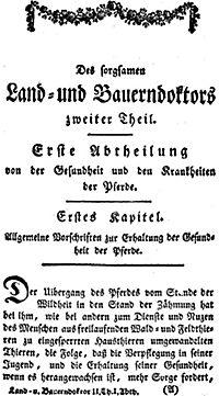 Land- und Bauerndoctor von der Gesundheitspflege und den Krankheiten der Pferde 1795, des Rindviehes, der Schafe, Ziegen - Produktdetailbild 4