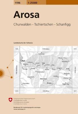 Landeskarte der Schweiz Arosa