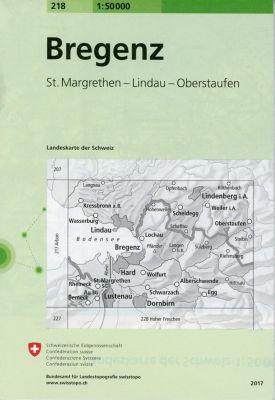 Landeskarte der Schweiz Bregenz