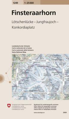 Landeskarte der Schweiz Finsteraarhorn