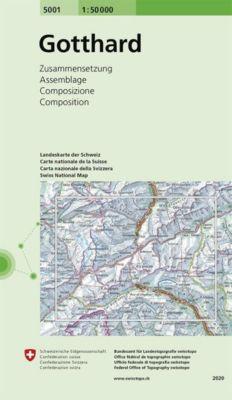 Landeskarte der Schweiz Gotthard